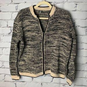 J. Jill Cardigan Sweater Size Medium Zip Up